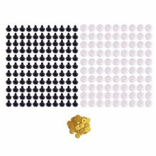 CCINEE 100 PC Plush Toy Eyes 12mm New Plastic Safety Eye For Teddy Bear Doll Animal Puppet Toy Plush Toy Color Confett Doll Eye(China)