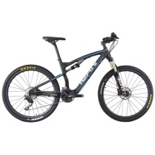 ICAN 27.5er Carbon Suspension Bicycle,650b Mountain Bike Carbon MTB Frame Shima Complete Suspension Bike 16/18/20inch