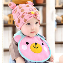 Autumn winter baby hat cap scarf twinset Cotton Beatles hat children hat+scarf Toddler animal(China)