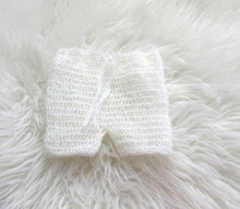 Photography Props Crochet/Knitting mohair baby short pants Baby Crochet Mohair pants(China)
