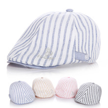 Mix Cotton Linen Striped Baby Beret Hat Fashion Toddler Boys Girls Caps Kids Accessories 1-2 Years