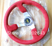 GV-ST021  car steering wheel with  pvc  leather and aluminum bracket 14''  350mm red performance racing momo steering wheel