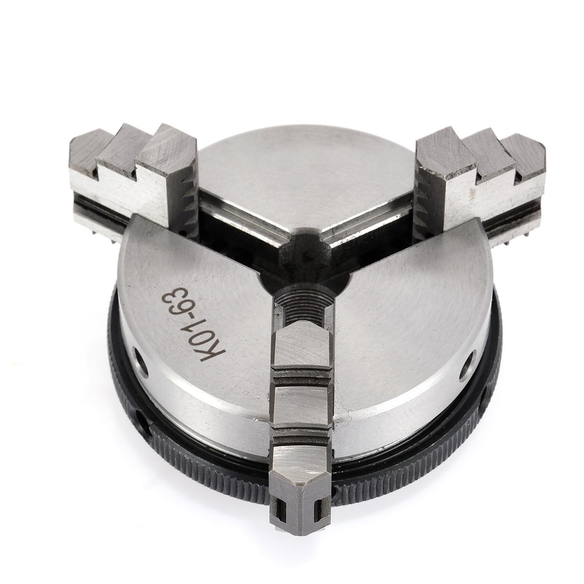 1Pcs 63mm 3 Jaw Chuck 2.5 inch Mini Metal Lathe Chucks with 2pcs Lock Rods For Metalworking Machine Accessories Tool