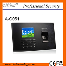 TCP/IP USB RFID card Biometrics Fingerprint time clock recorder And Touch Screen Employee time attendance system A-C051