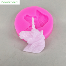 1pc Unicorn Silicone Candle Mold Cake Candle Decoration Mold Handmade DIY 3D Candle Soap Mold(China)