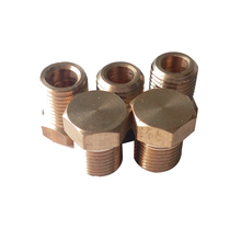 "Pack of 5 Brass Pipe Fitting 1/4"" Male BSP Threaded Plug BPFBSP-PL-1/4"