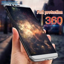 Luxury 360 Degree Protection Phone Cases For OnePlus 5 Case Full Back Cover Hard Plastic PC Matte Protector For One Plus 5 Case(China)