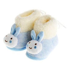 Best Winter Fashion Baby Boots Newborn Shoes Soft Soled Boy Girl Rabbit Shoe Infant Wool First Walkers Birthday Gift(China)
