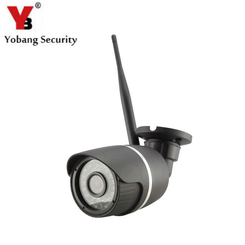 YobangSecurity 720P Outdoor WiFi Wireless IP Security Bullet Camera Weatherproof 24 LED IR Night Vision CCTV Cam with IR-Cut<br>