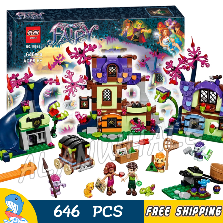 646pcs Magic Rescue from the Goblin Village Tree House 10698 Building Model Blocks Fairy Princess Toy Compatible with Lego Elves<br>