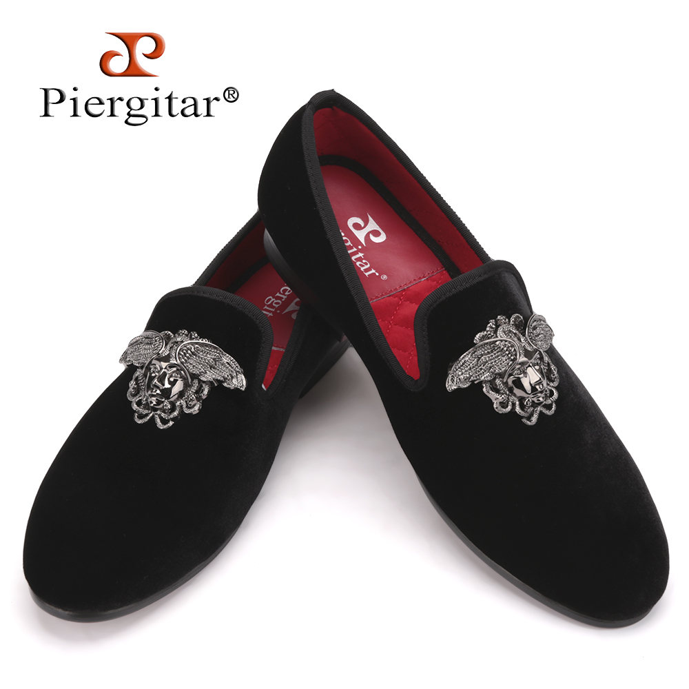 Fashion men loafers with Silver Face buckle handmade High-grade party and wedding men velvet shoes men dress shoe mens flats<br><br>Aliexpress