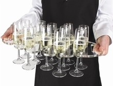 (2PCS/LOT) ONE LUX Acrylic Suspended Champagne/Wine Glass Tray - 500 x 325mm To Hold 12 Glasses