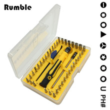 Rumble 42 in 1 Screwdriver Set Opening Hand Repair Tool Trox Hex Cross Flat Y Star For Tablets Phone Computer Laptop PC Watch