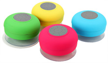Bluetooth Car Kit Water Resistant Mini Portable Shower Bluetooth Speaker with Sucker Support Hands-free Calls for Mobile Phone(China)