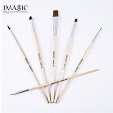 IMAGIC Body Paint Makeup Brushes Painting Face Paint Brush Set maquiagem Tools Wooden Handle Halloween Cosmetics 6Pcs Art Kit(China)