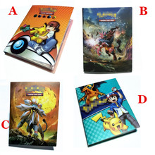 2017 New Anime Carte Album Book Top Loaded List 120 GX EX Cards Pokeball Holder Pikachu Album kaarten Collection Toys Kids Gifts