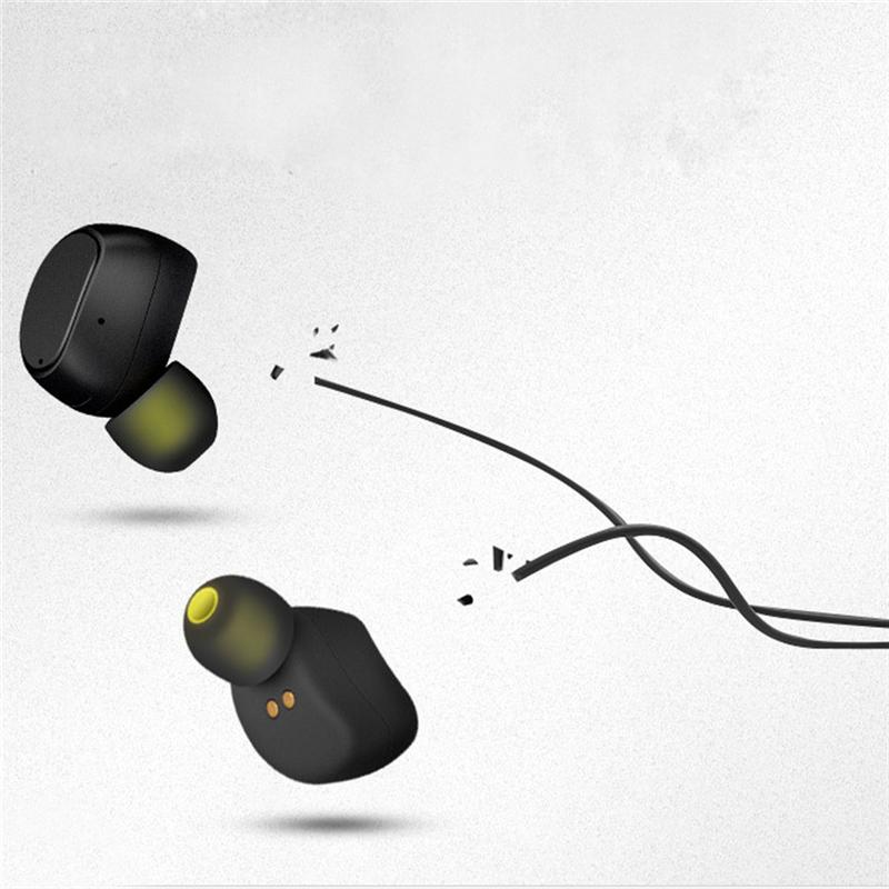 LEORY Earphones Mini Bluetooth Earphone Wireless with Microphone Hands Free for Phone Waterproof Sport Invisible Earpiece