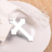 20PCS Boxed Blessings Silver Bible Cross Bookmark Party Favor Bridal Baby Shower Souvenirs Wedding Favors and Gifts For Guest(China)