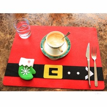 1PCS Christmas Stockings Placemats Knife Fork Holder Mat Christmas Decorations for Home Feliz Navidad Christmas Supplies