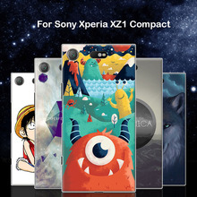Buy Sony Xperia XZ1 Compact case,Purecolor Cute Cartoon painted Hard PC shell back cover case Sony Xperia XZ1 Compact for $4.08 in AliExpress store