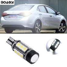 BOAOSI 1x T15 W16W Canbus 6000k Xenon White 15 LED Back Reverse Light For toyota corolla avensis 06-13 rav4 crown new reiz