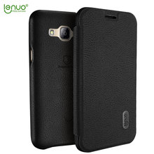 Lenuo Flip Cover for Samsung Galaxy J3 Case Ultra Thin Flip Soft Leather Phone Cases For Samsung Galaxy J3 2015 2016 Back Cover(China)