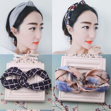 Hot Sale Fashion Ribbon Flower Headband Women Girls Hair Band Double Bands Twisted Turban Headband Accessories Girl Headwrap