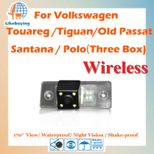 Wireless Parking Camera / 1/4 Color CCD Rear View Camera For Volkswagen Touareg / Tiguan / Old Passat Santana / Polo (three box)