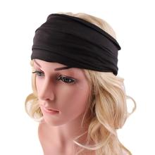 Ladies Wide Headband for Yoga Boho Headwear Running Headbands Womens Hair Accessories Headwrap Nonslip causual(China)