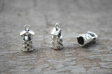 20pcs-Well charms, Antique Tibetan silver 3D Well charms Pendants connector 17x9x8mm