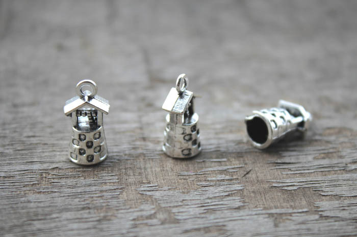 20pcs-Well charms, Antique Tibetan silver 3D Well charms Pendants connector 17x9x8mm(China)
