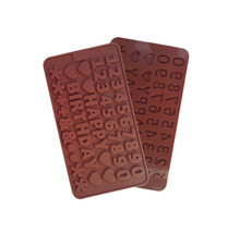 L040 Free shipping 1 piece Heart Alphabet Numbers Silicone Cake Mold Decorating Fondant Cookie Chocolate(China)