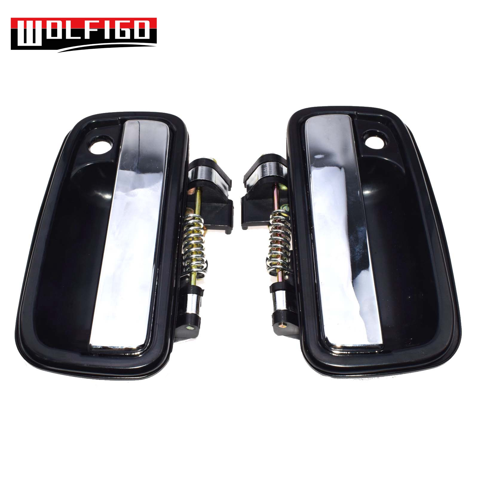 95-04 Toyota Tacoma Front Left Driver Side Outside Door Handle Chrome Black