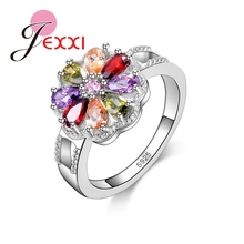 PATICO Size 6/7/8/9 Luxury Design Fashion Colored CZ Crystal Engagement Rings 925 Sterling Silver Wedding Rings Women