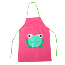 5 Colors Kids Children Waterproof Frog Print Apron Paint Eat Drink Outerwear Wholesale Free Shipping 30RJL28 #1T3
