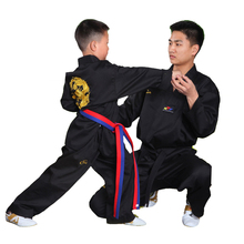 Autumn/Winter Dragon Kids Adults Taekwondo Uniform W/Black Belt Dobok Muay Thai Judo Clothes Sets Long Sleeves DBO