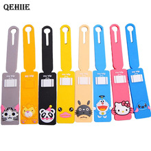 Travel Accessories Baggage Tag Lovely Cartoon Silicone 15 Color Suitcase Baggage Checklist Portable Label(China)