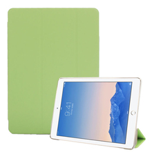 Solid Fashion 8 Colors Folable Leather Case Stand Cover Protection Cover Skin Protector For iPad Air 2 For iPad 6 Tablet