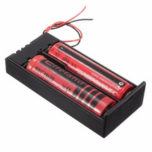 Universal Black Battery Storage Case 3.7V 2x18650 Batteries Holder Box Container With ON/OFF Switch