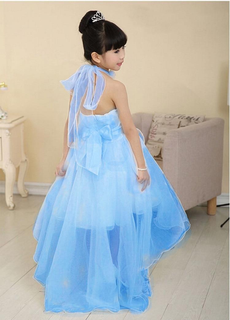 Children Princess Dress Clothes Party kids girls Dresses vestidos de menina Pearls Decoration Halter Sleeveless Design<br>