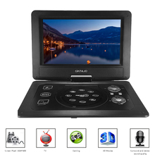 GKN-101 10.1Inches Portable DVD Player Portatil 16:9 TFT Screen Pixe 1024 * 600 SD/USB/AV for Gamepad TV DVD/CD/MP3 US/EU Plug