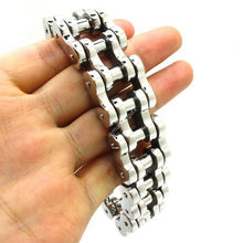 High Quality 22mm Motor Bike Chain Motorcycle Chain Bracelet Bangle Huge Heavy Men's 316L Stainless Steel Jewelry HOT SALE(China)