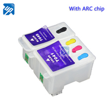 T040 T041 Refillable ink cartridge for epson C62 CX3200 PRINTER INK with auto reset chip ARC(China)