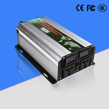 DC To AC Car Power Inverter 1000W Pure Sine Wave Inverter Dual LED Display 12V 220V Inverter Output Voltage 24V and 12V