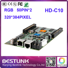 free shipping huidu hd-c10( hd-c1) led video card rgb led controller for outdoor led display screen led video wall