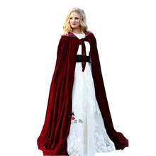 Red Velvet Wedding Accessories 2018 Jacket Bridal Winter Warm Bride Wrap Shawl Cape Wrap Cape Fur Wedding Coat Jacket for Bridal(China)