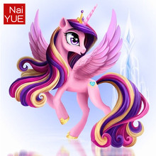 NAIYUE 5D diamond Painting Cross Stitch 3D Diy Diamond Embroidery Cartoon Diamond Mosaic Picture Princess Pony kids Gift(China)