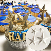 Five-pointed Star Shape Fondant Cake Silicone Mold DIY Candy Cookie Cupcake Molds Cake Baking Decorating Tools Biscuits Mould