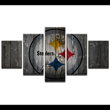 Modern Painting Wall Art Home Decor American Football Pictures 5 Pieces Canvas Printed Sports Rugby Steelers Poster Frame PENGDA