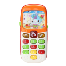 New Electronic Toy Phone Kid Flashing Sounding Mobile Phone Cellphone Telephone Educational Toys Gift(China)